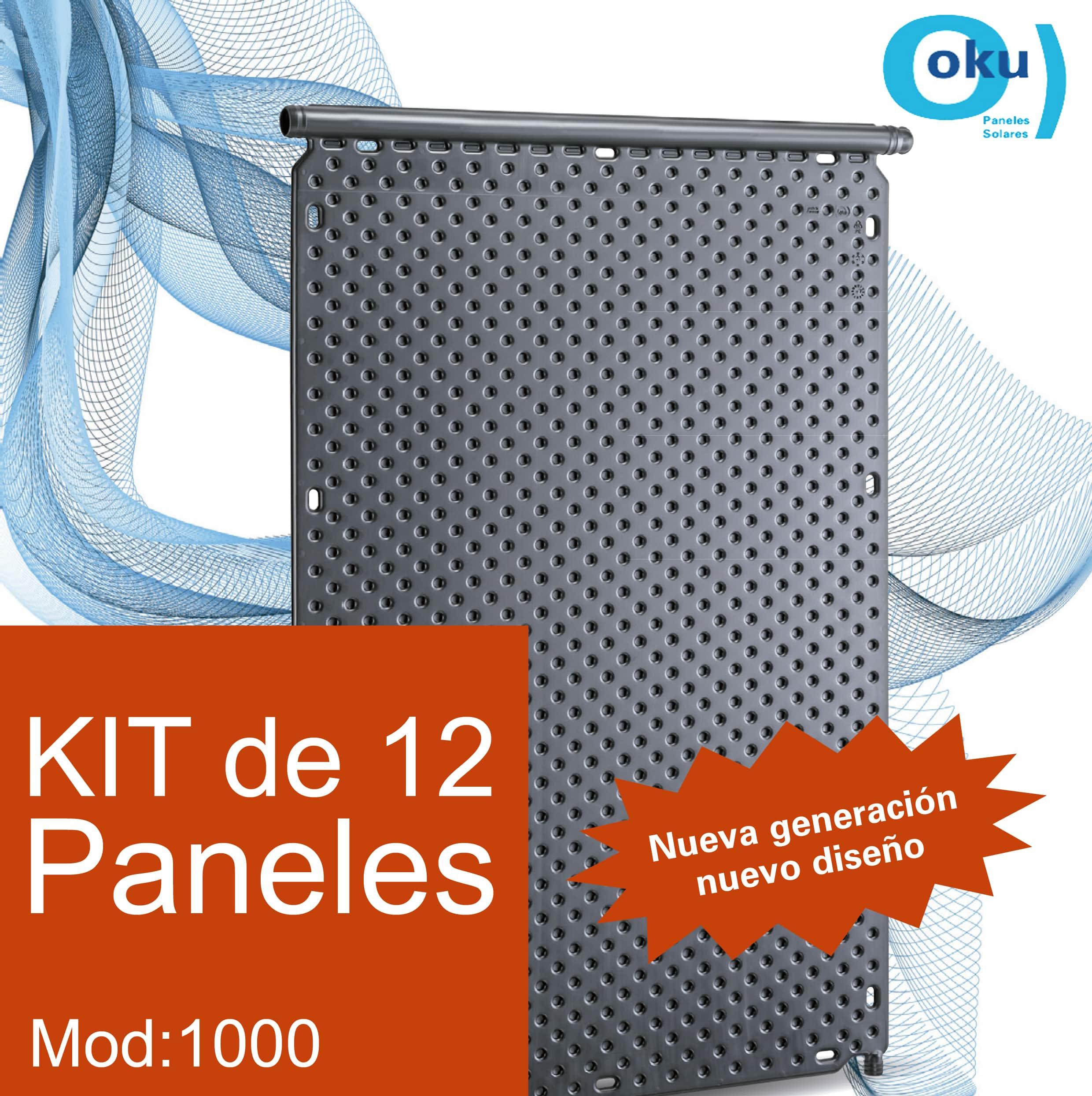 Kit 12 Paneles Solares M1000