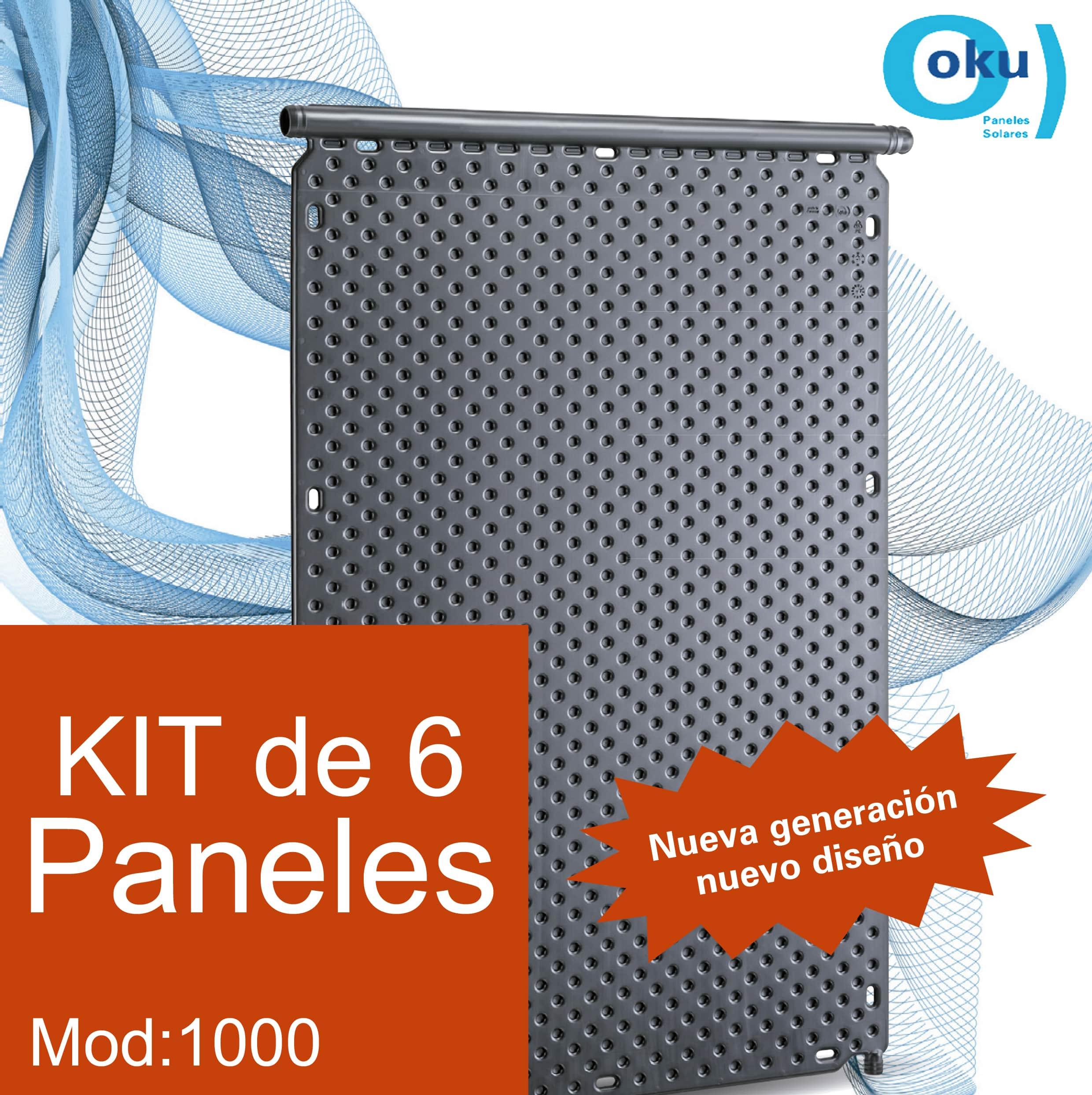 Kit 6 Paneles Solares M1000