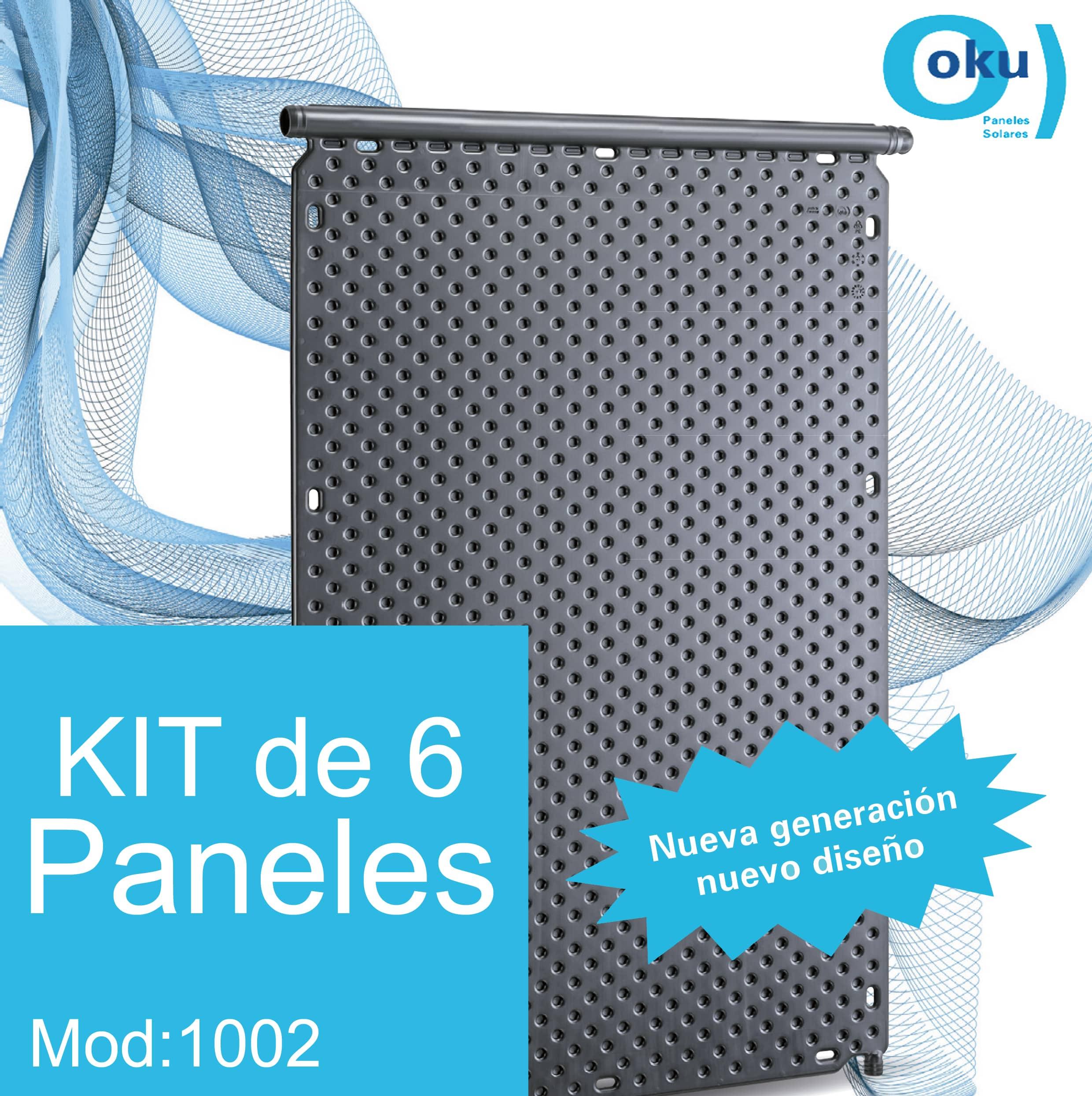 Kit 6 Paneles Solares M1002