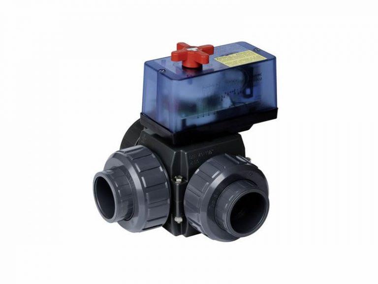 Válvula de bola de 63 mm con Actuador eléctrico 12 V - 230 V