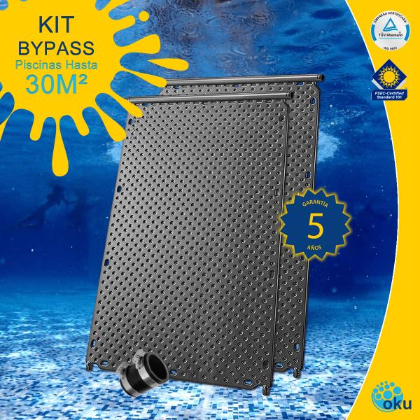Kit Instalación Paneles Solares Piscinas Hasta 30m² - En BYPASS